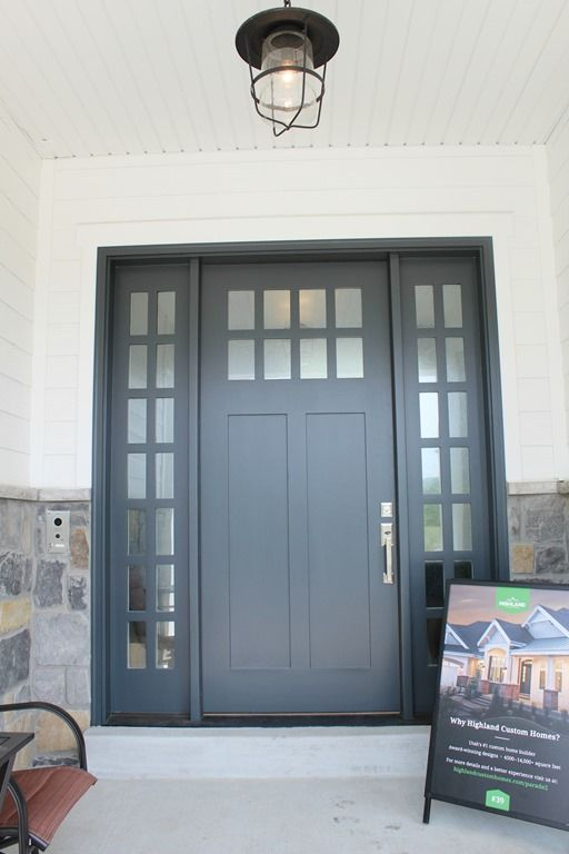 Exterior door paint color: Midnight Blue by Benjamin Moore with ...