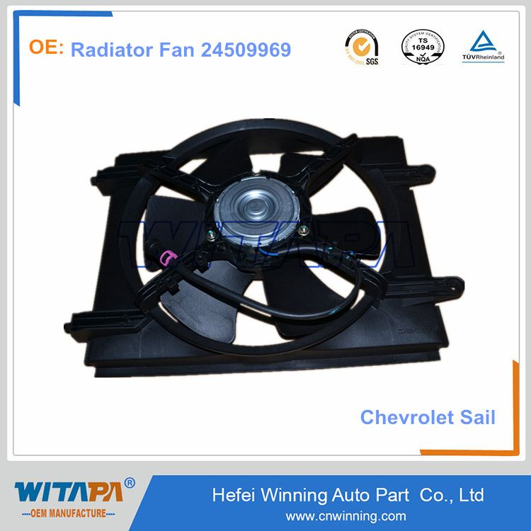 High Quality Chevrolet Sail Spare Parts Auto Radiator Fan 24509969