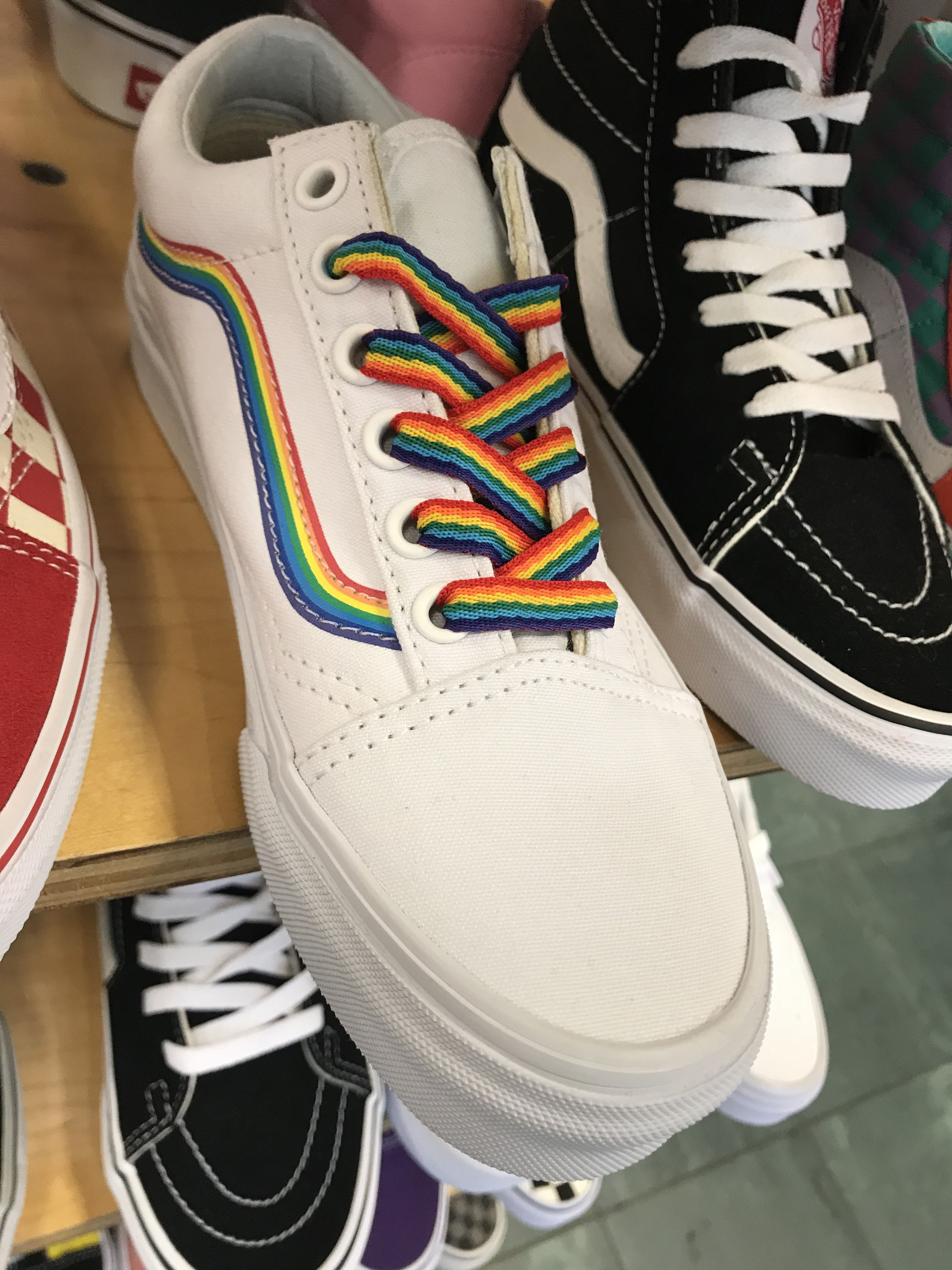 Najnowsza amazonka nowe tanie Rainbow anything is always the move. Love these pride vans ...