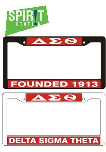 Delta Sigma Theta Plastic License Plate Frame | Delta Sigma Theta ...