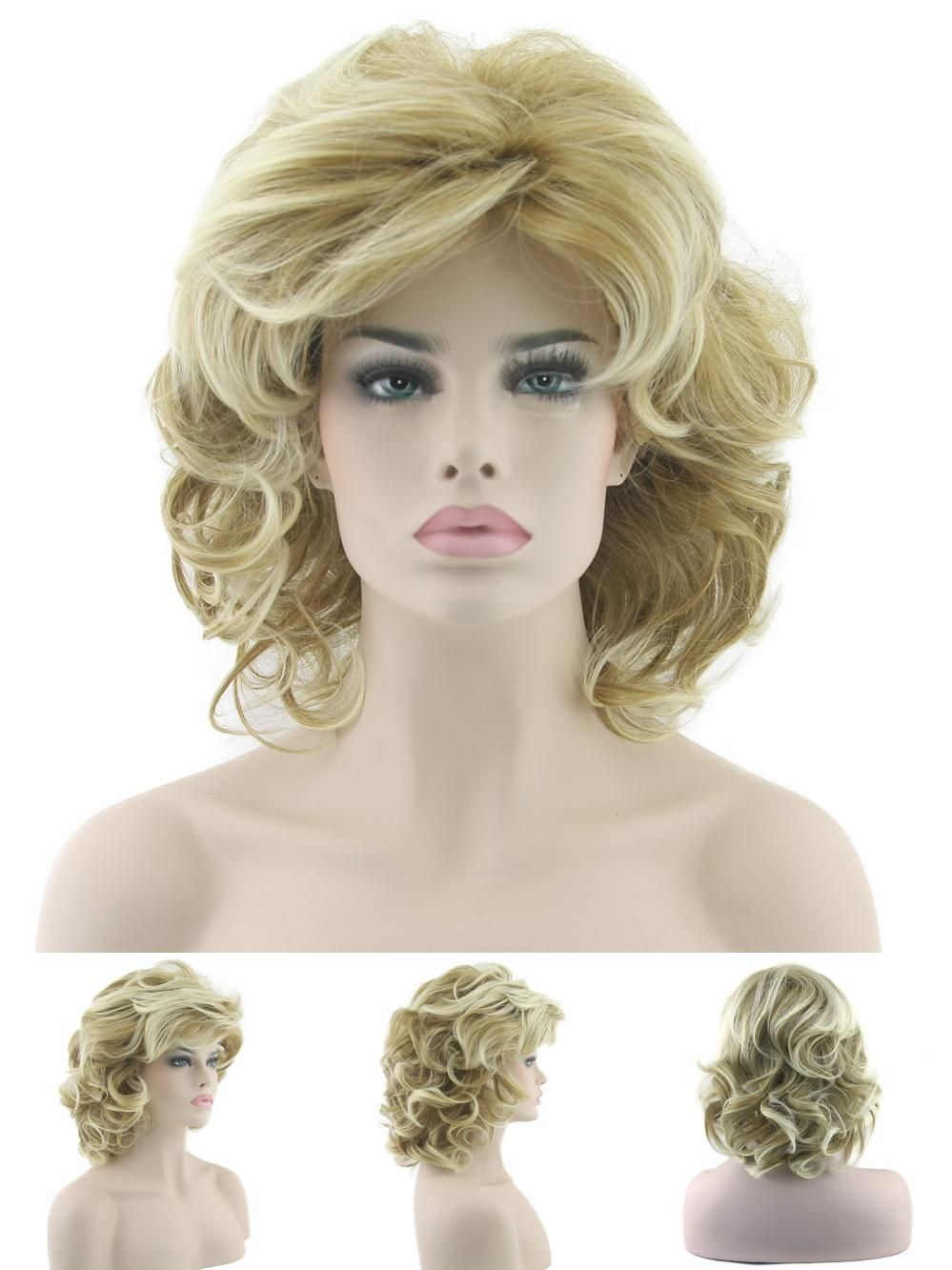 Visit to buy blonde wavy short wigs cosplay wig synthetic heat
