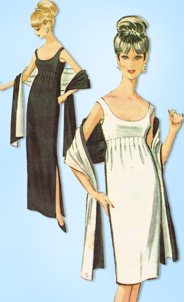 1960s McCalls Sewing Pattern 7521 Designer Pauline Trigere Cocktail ...