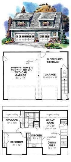 Plan 58557 Attach this to a house and its a perfect in law apartmentGarage Plan 58557 Attach this to a house and its a perfect in law apartment House Architecture Design...