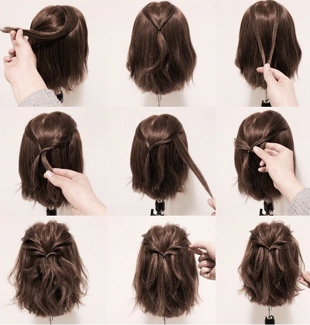 28 Braided Pigtail Braids For Short Hair You Will Love For 2019 Braided Pigtail Brai Prom Hairstyles For Short Hair Medium Hair Styles Short Hair Styles