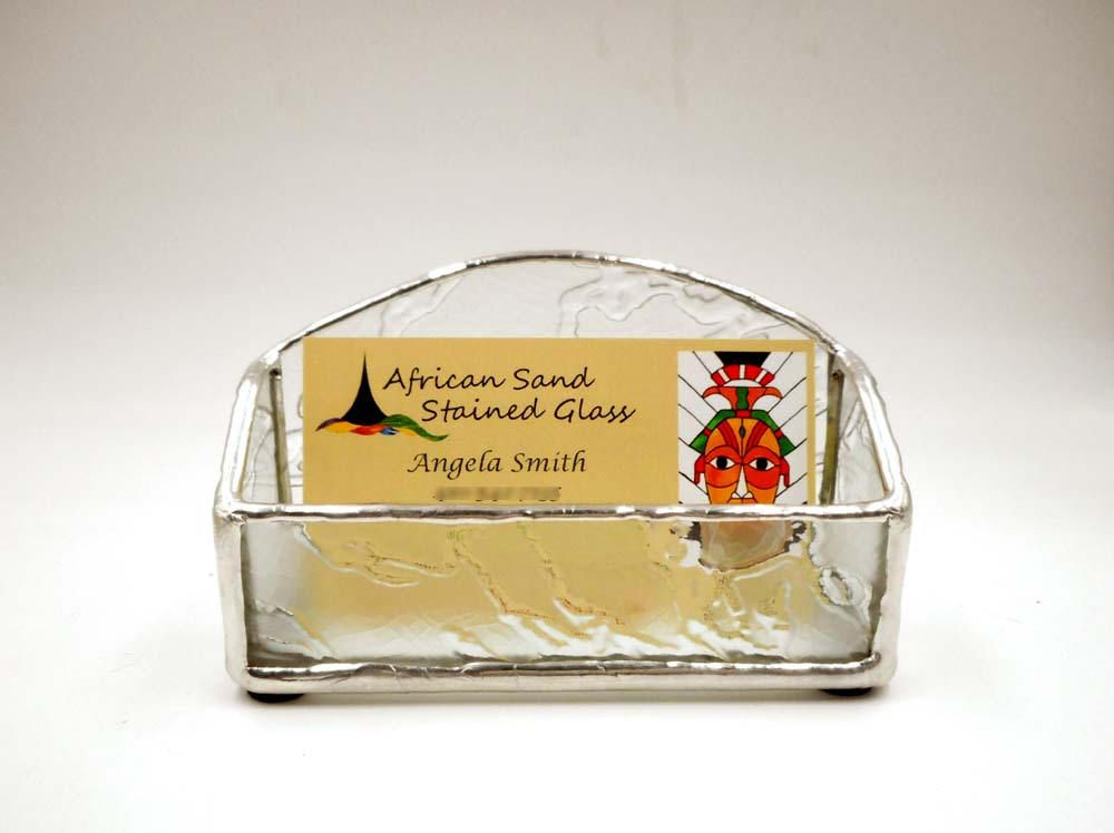Clear Stained Glass Business Card Holder | My Stained Glass Work ...