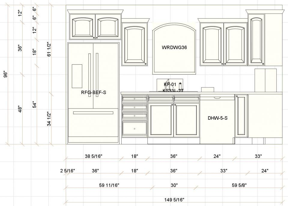 Uncategorized:Kitchen Design Measurements In Beautiful ...