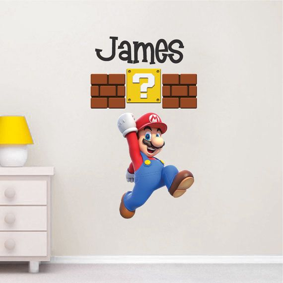 Super Mario Wall Decal Nintendo Wall Decal By PrimeDecal On Etsy