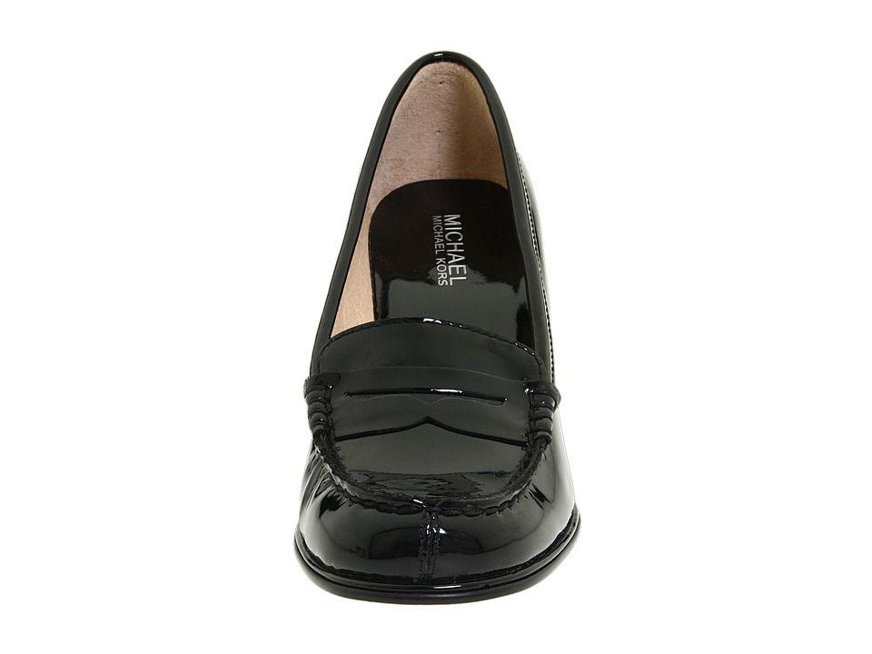 dab3e7dc91e MICHAEL Michael Kors Bayville Loafer High Heels Black Patent ...