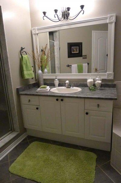 Simple Modern Bathroom Mirrors  Battery Powered LED  Bevelled  Plain