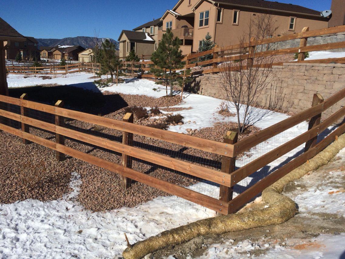 Colorado Springs Fence Company 3 Rail Ranch Rail Fence