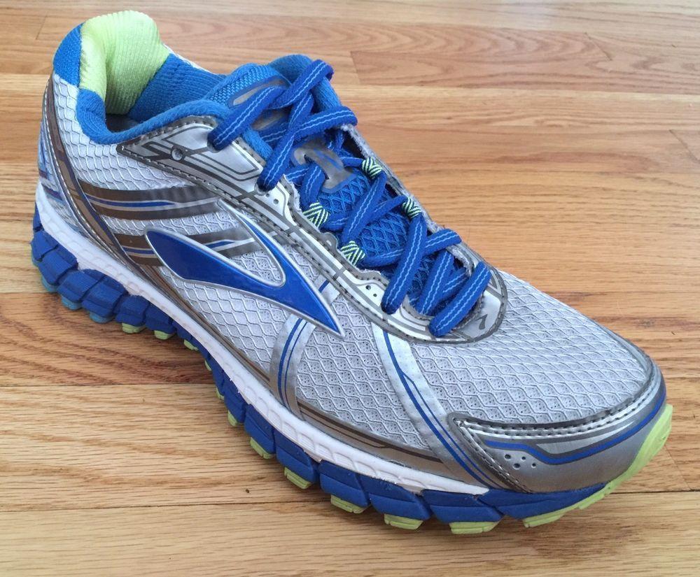4ac0888eb44 Brooks Womens SZ 8.5 M Adrenaline GTS 15 Running Shoes Silver Gray Blue