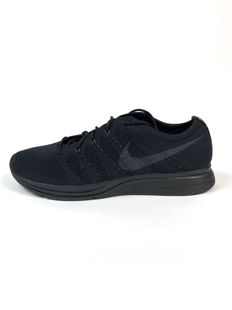 best sneakers d3411 495aa Nike Flyknit Trainer Triple Black Anthracite Size 13 Mens New AH8396-004   150 887231009930   eBay