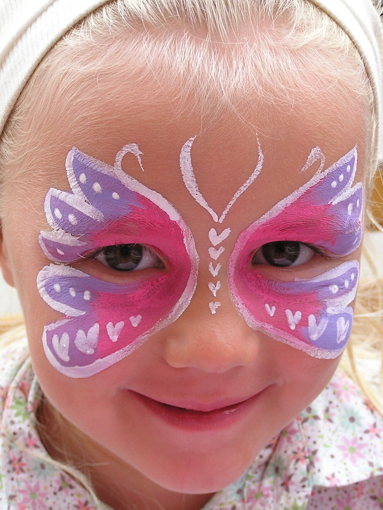 Vlinder grime voorbeelden pinterest vlinders schminken ontwerpen en kinderen - Geschilderde bundel ...