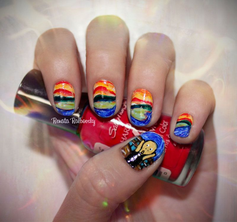 Edvard Munch The Scream Nailart By Psychoreniantart On
