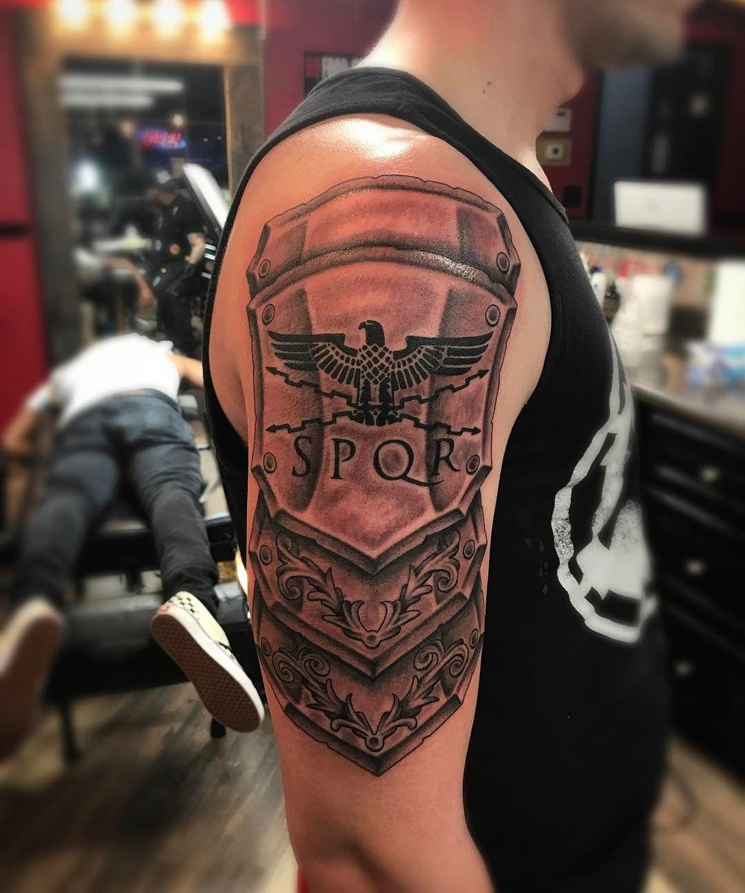 Gladiator Tattoo Spqr: My SPQR Tattoo #tattoos #SPQR #armortattoo #RomaVictor