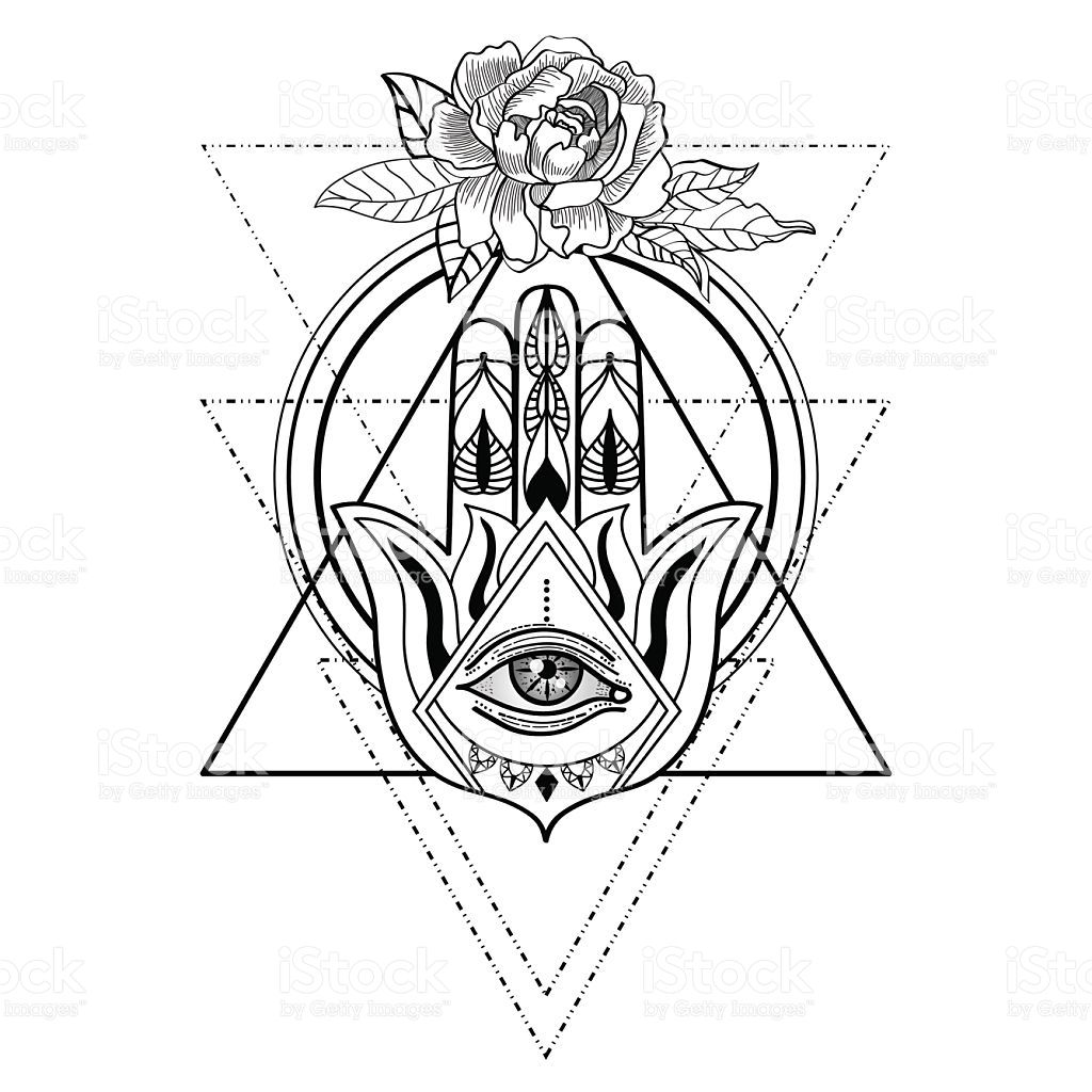 Bildergebnis Fur Hamsa Hand With Images Geometric Hamsa Tattoo Hamsa Tattoo Flower Tattoo Hand