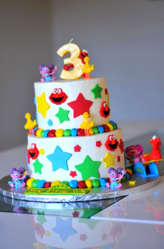 Two Tier Cake for 3 Year Old Unique Cake Designs Pinterest