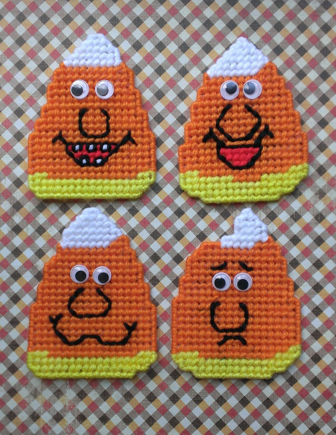 Plastic Canvas Candy Corn Magnets By Sweetsolutions On