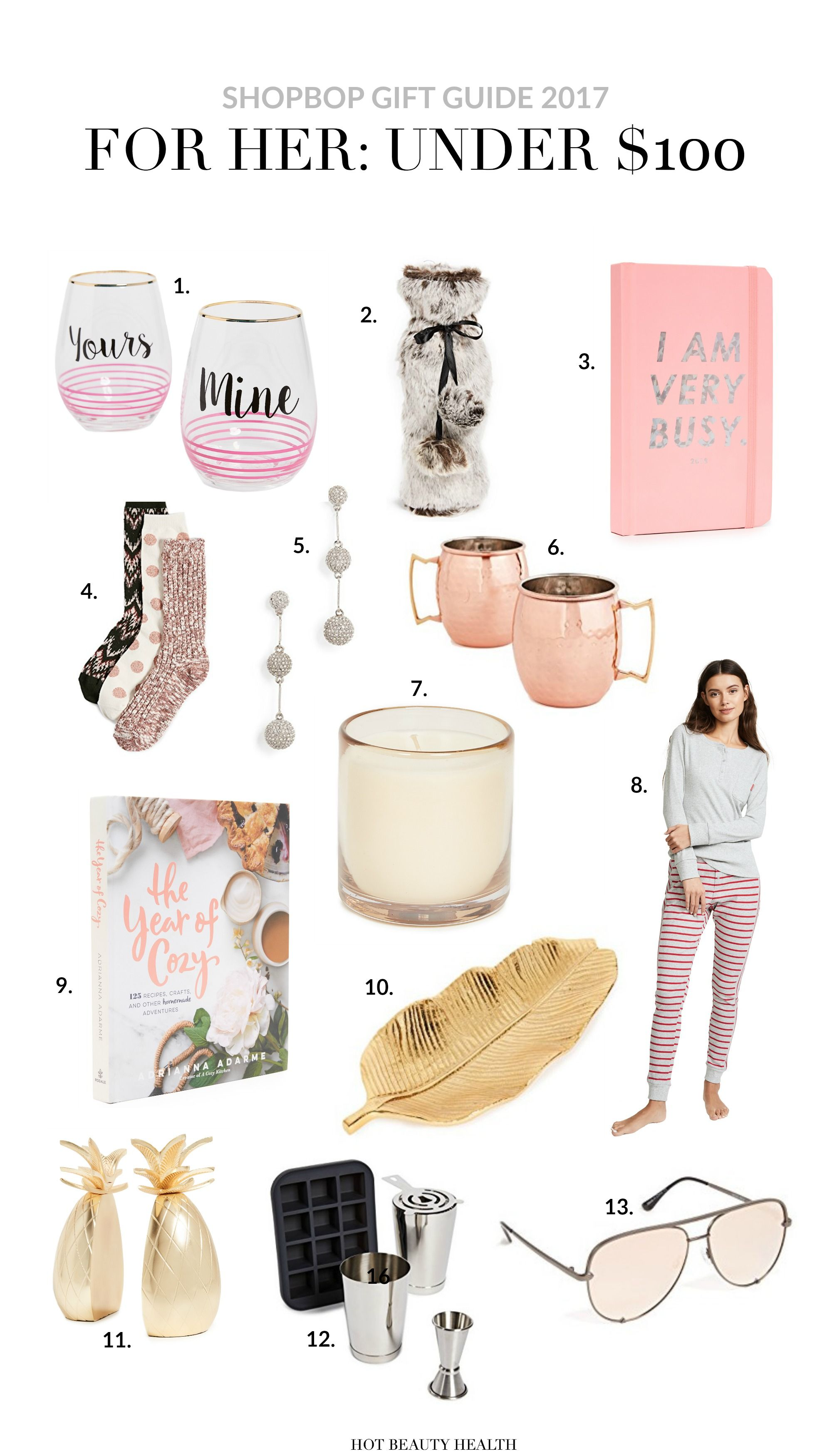 Shopbop Holiday Gift Guide 2017 For Her Under 100 Thoughtful