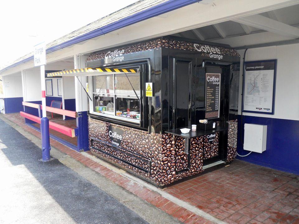 coffee kiosk at grange park station