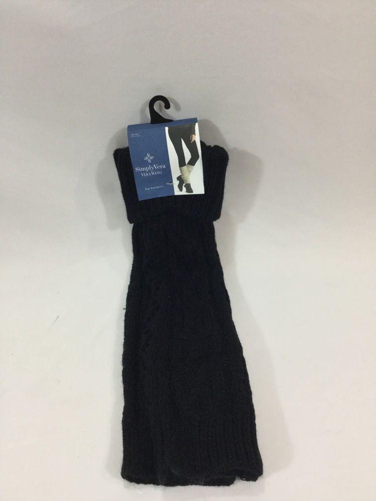 b6b578dcde890 Simply Vera Vera Wang Black Leg Warmers #fashion #clothing #shoes  #accessories #womensclothing #hosierysocks