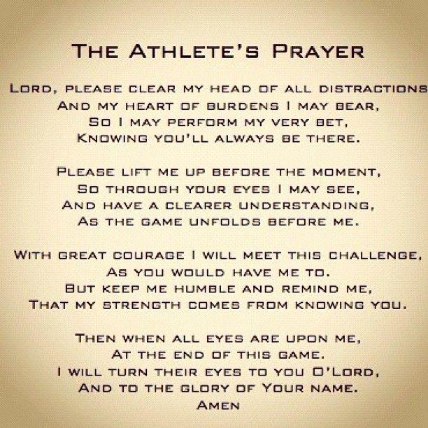 Team Athlete Life • The athletes prayer. #nike #sports #fitness.