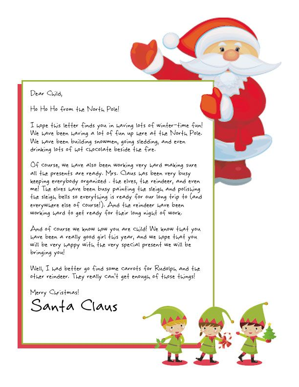 easy free letter from santa magical package santa printable