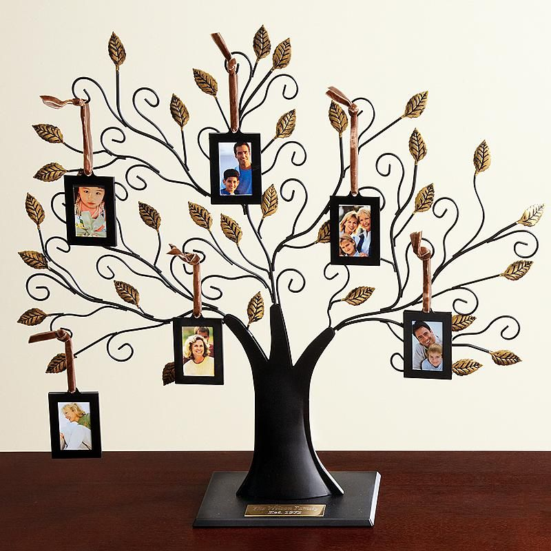 Oversized Metal Family Tree Sculpture And Frames Family Tree Photo Frame Family Tree With Pictures Family Tree Photo