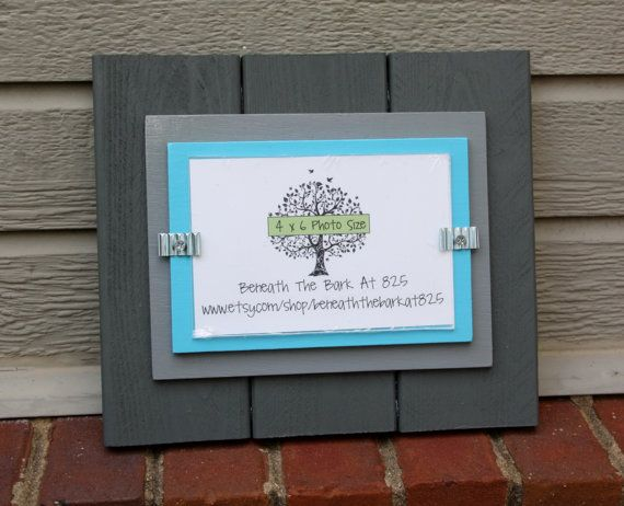 Wood Picture Frame Holds 4x6 Photo Double by BeneathTheBarkAt825. I ...