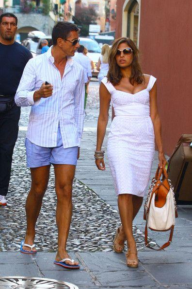 17bfe4bfa2 Stefano Gabbana in Eva Mendes And George Gargurevich Walking With ...