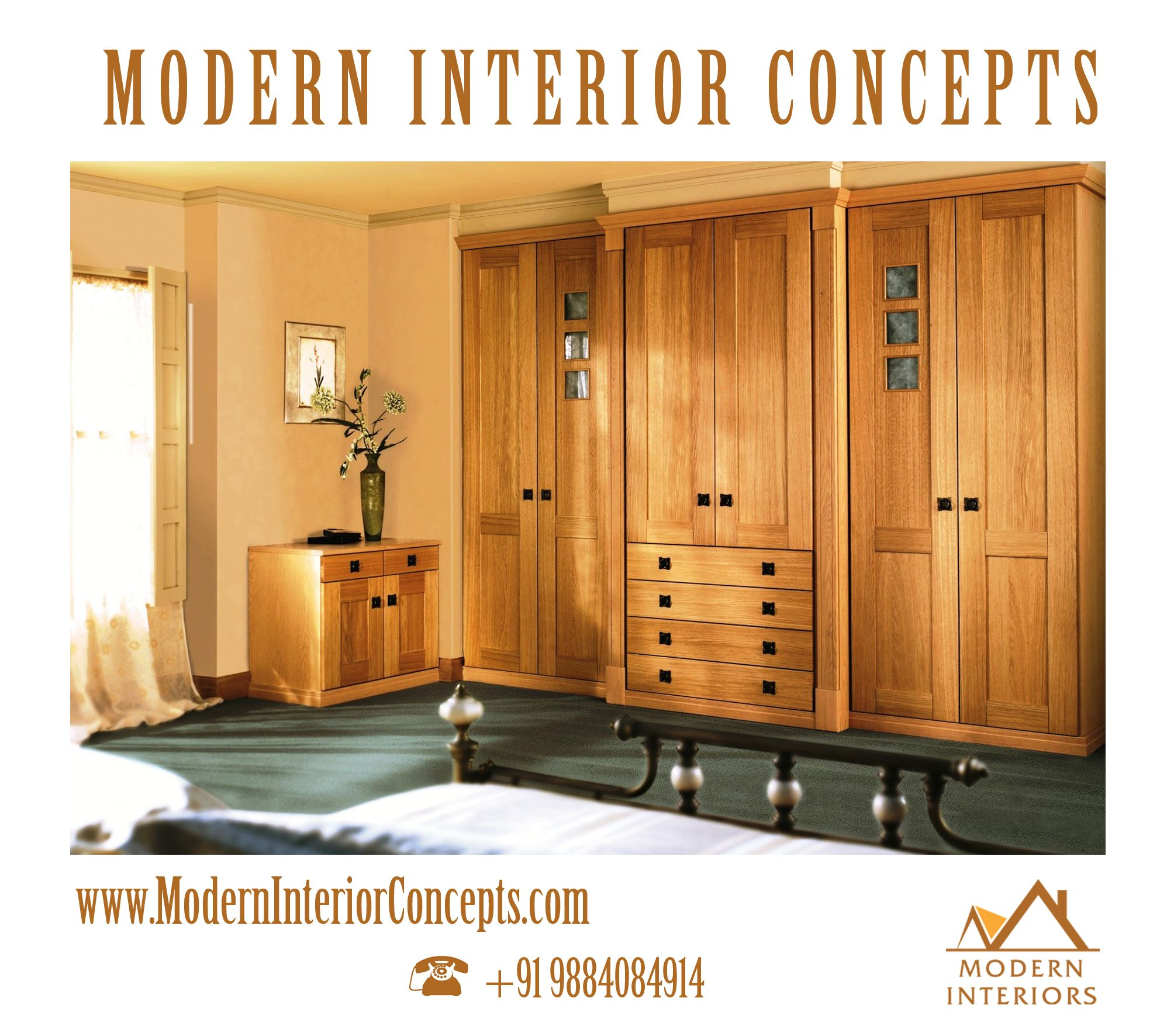 Modern Interior Concepts is the Best Bedroom Wardrobe Interior