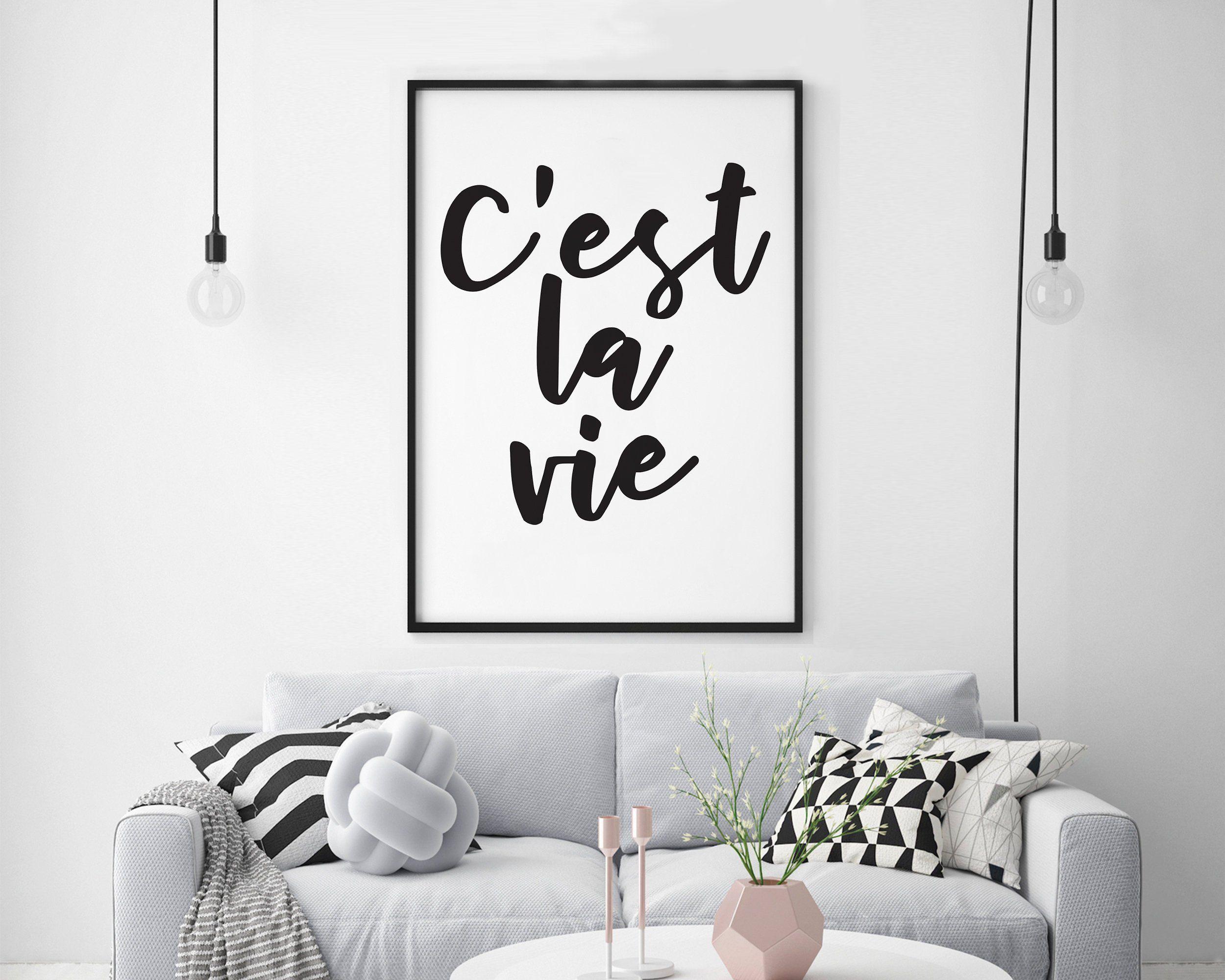 Cest La Vie Print - Cest La Vie Wall Art