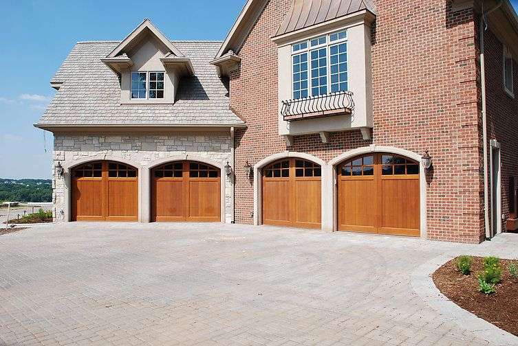 Signature Carriage Collection Custom Stained Wood Garage Door Styles Wood Garage Doors Custom Wood Garage Doors