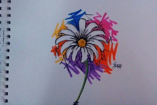 Flor simple en acuarela