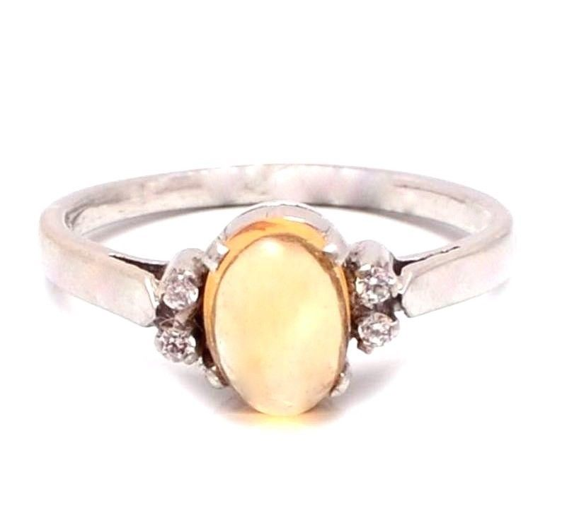 Exclusive New 925 Sterling Silver Golden Citrine & Diamonds Gemstone Women Ring #SimSimSilver #New