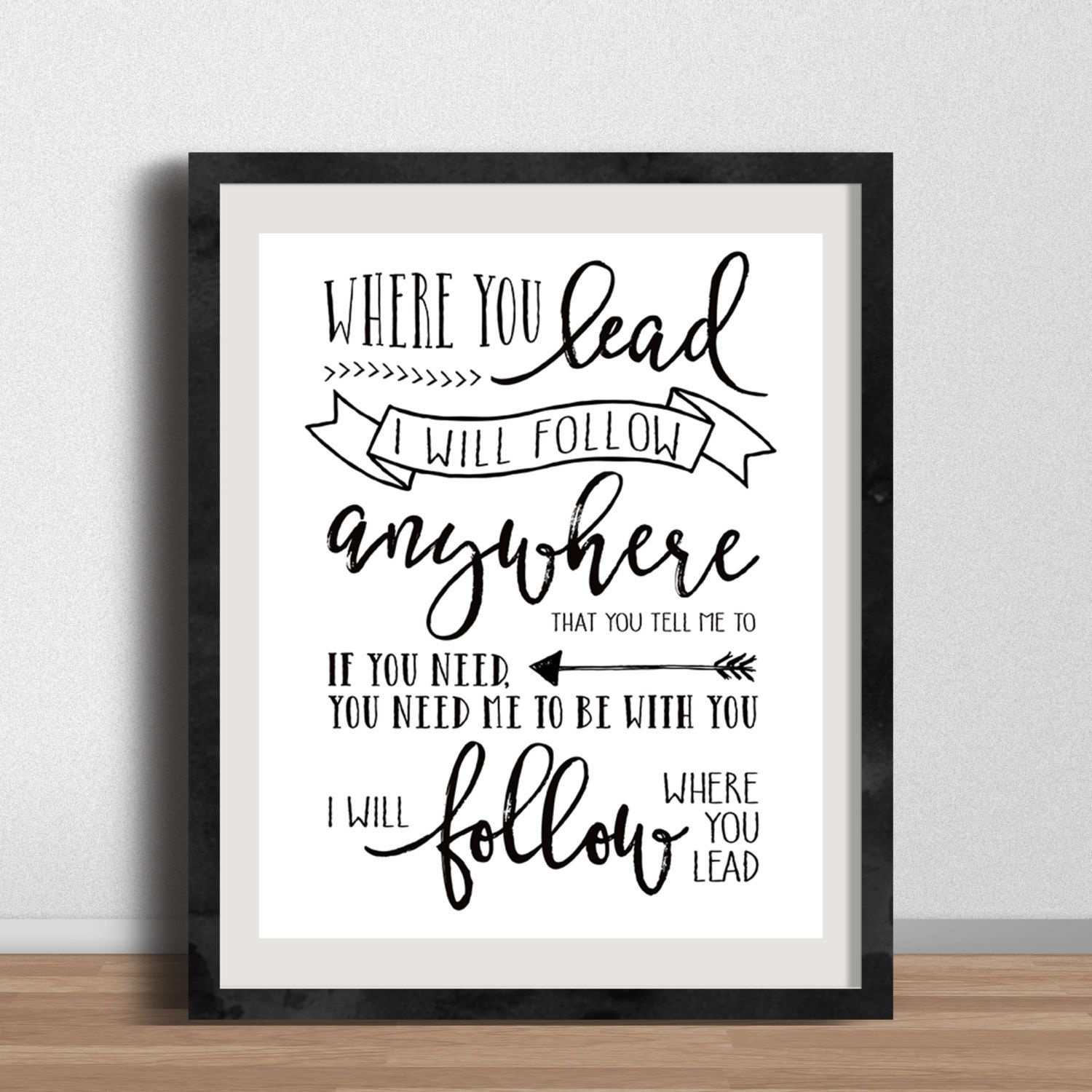 Gilmore Girls Card Where You Lead I Will Follow