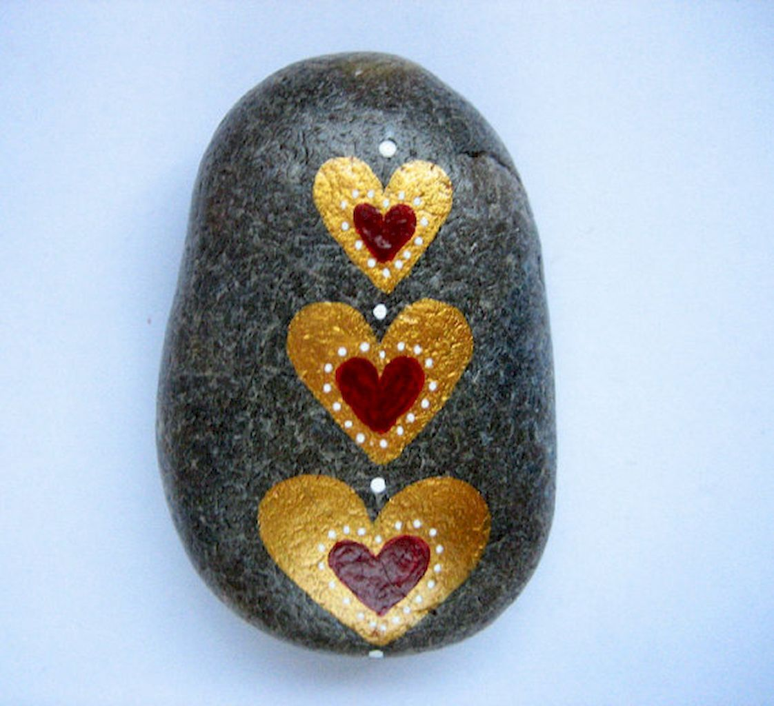 80 romantic valentine painted rocks ideas diy for girl (56 | Rock ...