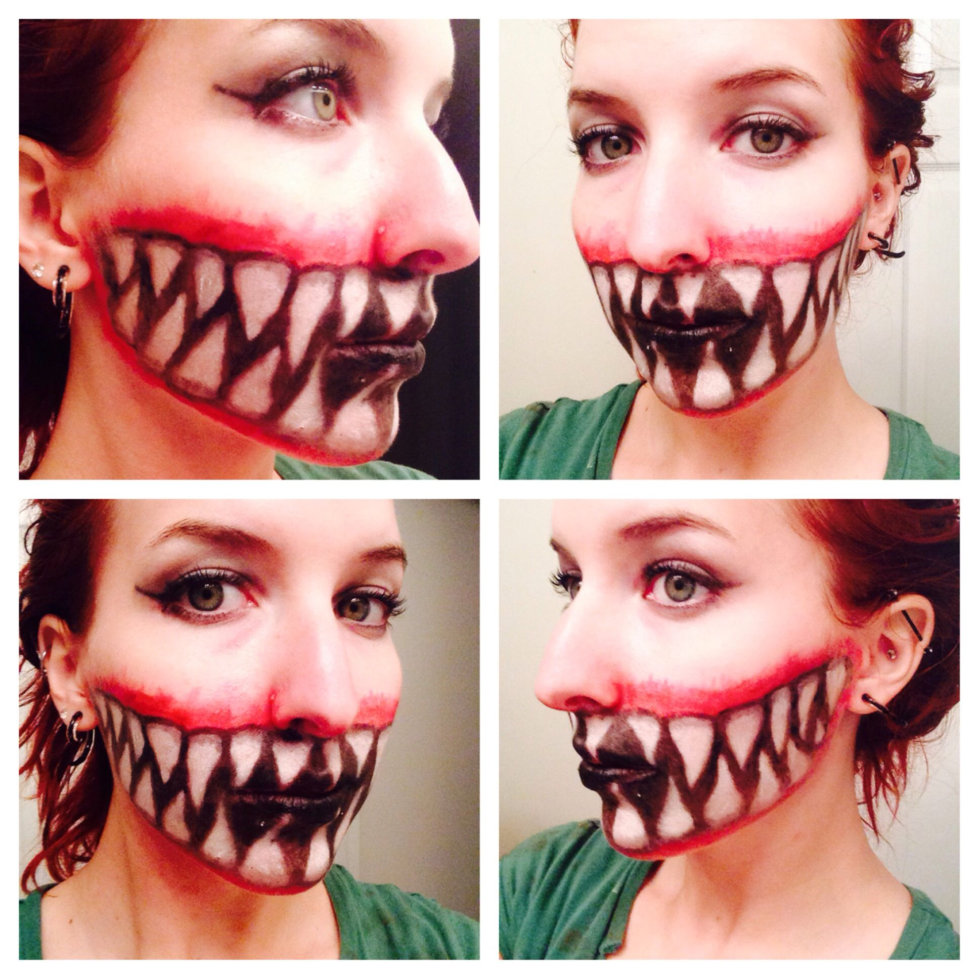 big scary halloween teeth face paint costume facepaint halloween teethfacepaint