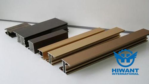 Colorful powder coating aluminium profile especially for windows and doors frames.