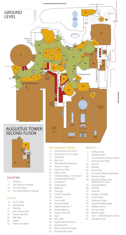 Caesars Palace Map : caesars, palace, Hotel