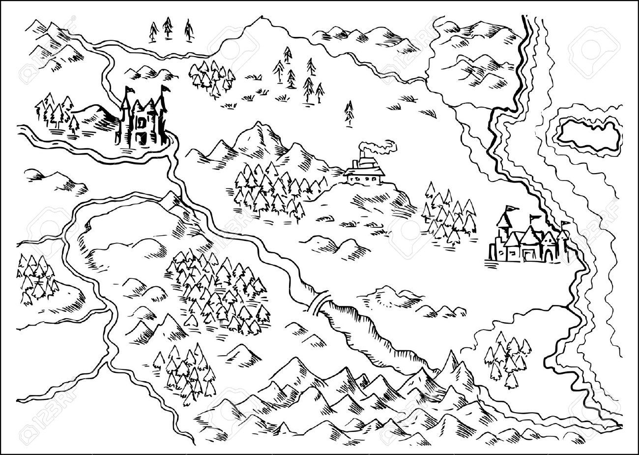 Line Art Map : Mountains maps sketch szukaj w google sketchnoting