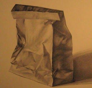 Papirova Taska Kresba Paper Bag Brown Paper Bag Still Life Drawing