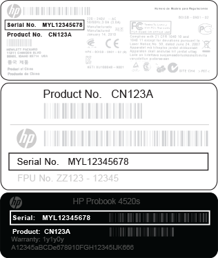 HP product serial number locations | computer | Hp products