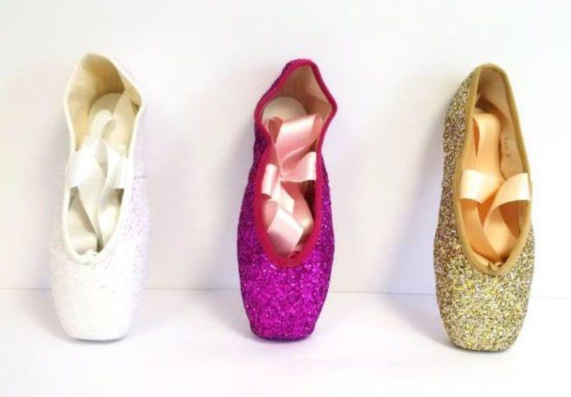Merlet Glitter pointe shoes