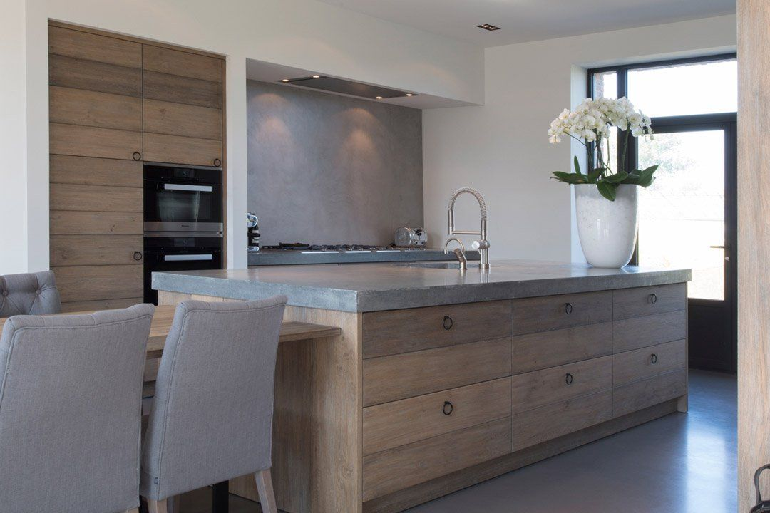 100 idee di cucine moderne con elementi in legno | Cemento ...