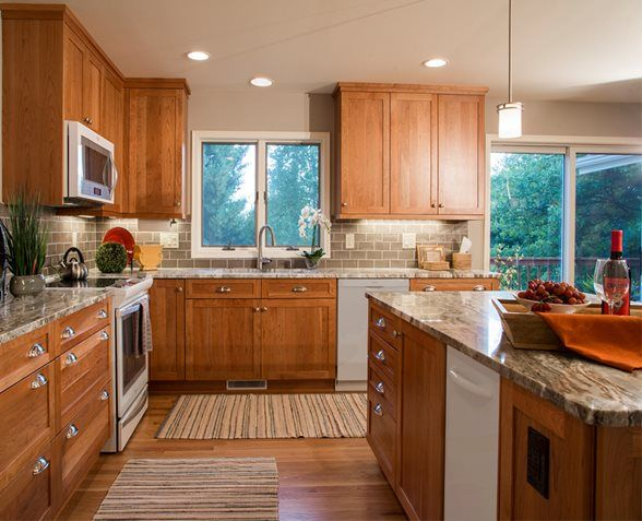 brookhaven cherry cabinets in a natural finish | kitchen redo