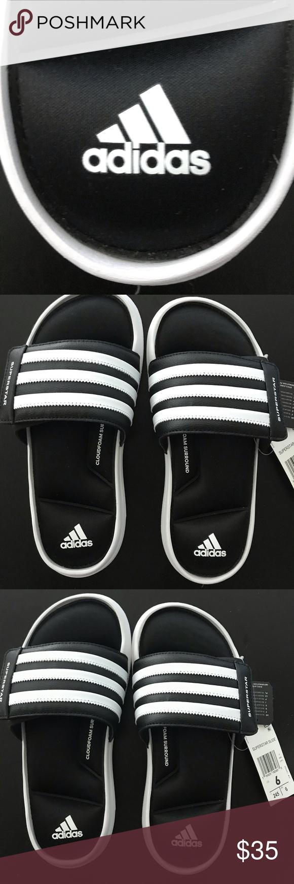 0369e96b1092 Adidas Performance Superstar Slides Black Fitfoam Adidas Performance Men s  Superstar Slides white (Size 6 US
