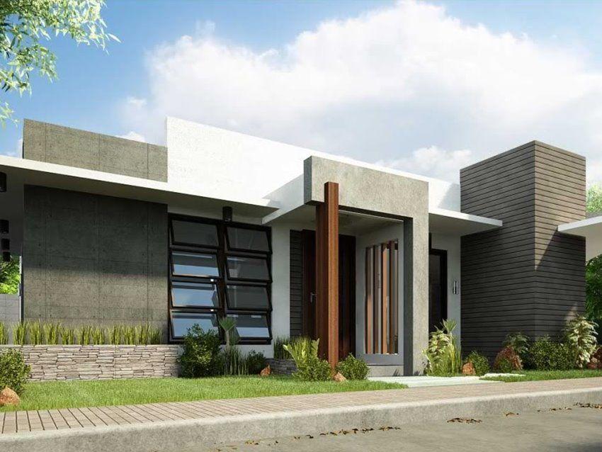 1 Floor Simple Modern House Idea FACHADA DE CASAS TRREAS