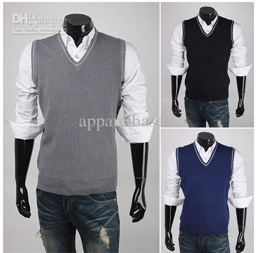 Wholesale Sweaters - Buy Men's Sweater Vest,V-neck, Sleeveless ...