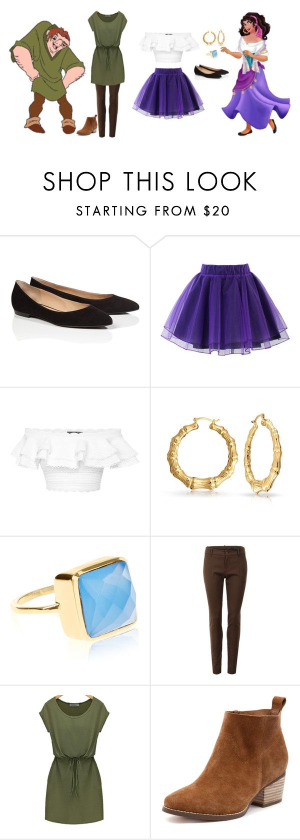 """""""Quasimodo & Esmeralda ~ Hunchback Of Notre Dame"""" by desireewolfe ❤ liked on Polyvore featuring ESCADA, Chicwish, Alexander McQueen, Bling Jewelry, Accessorize and Gucci"""
